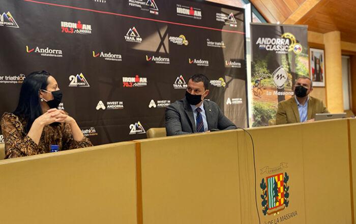 Presentación Andorra MTB Classic-Pyrenees del Multisport Festival que acogerá la Massana