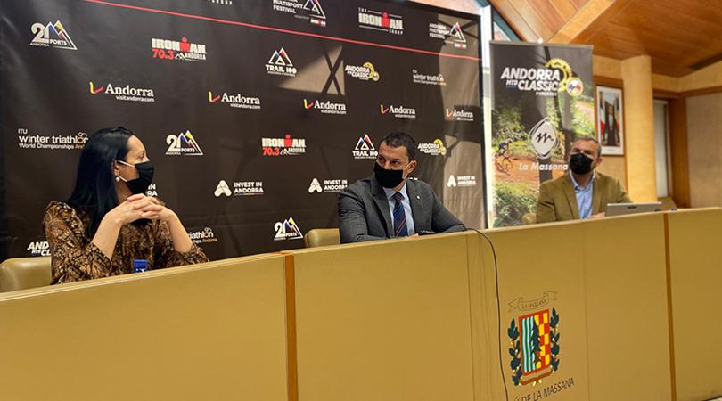 Presentació Andorra MTB Classic-Pyrenees del Multisport Festival que acollirà la Massana