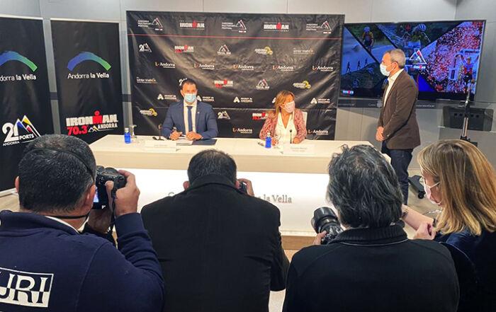 Presentació proves Ironman a Andorra la Vella