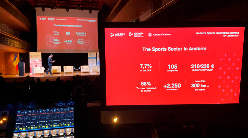 Not an empty seat at The Andorra Sports Innovation Summit to listen to the sector´s experts