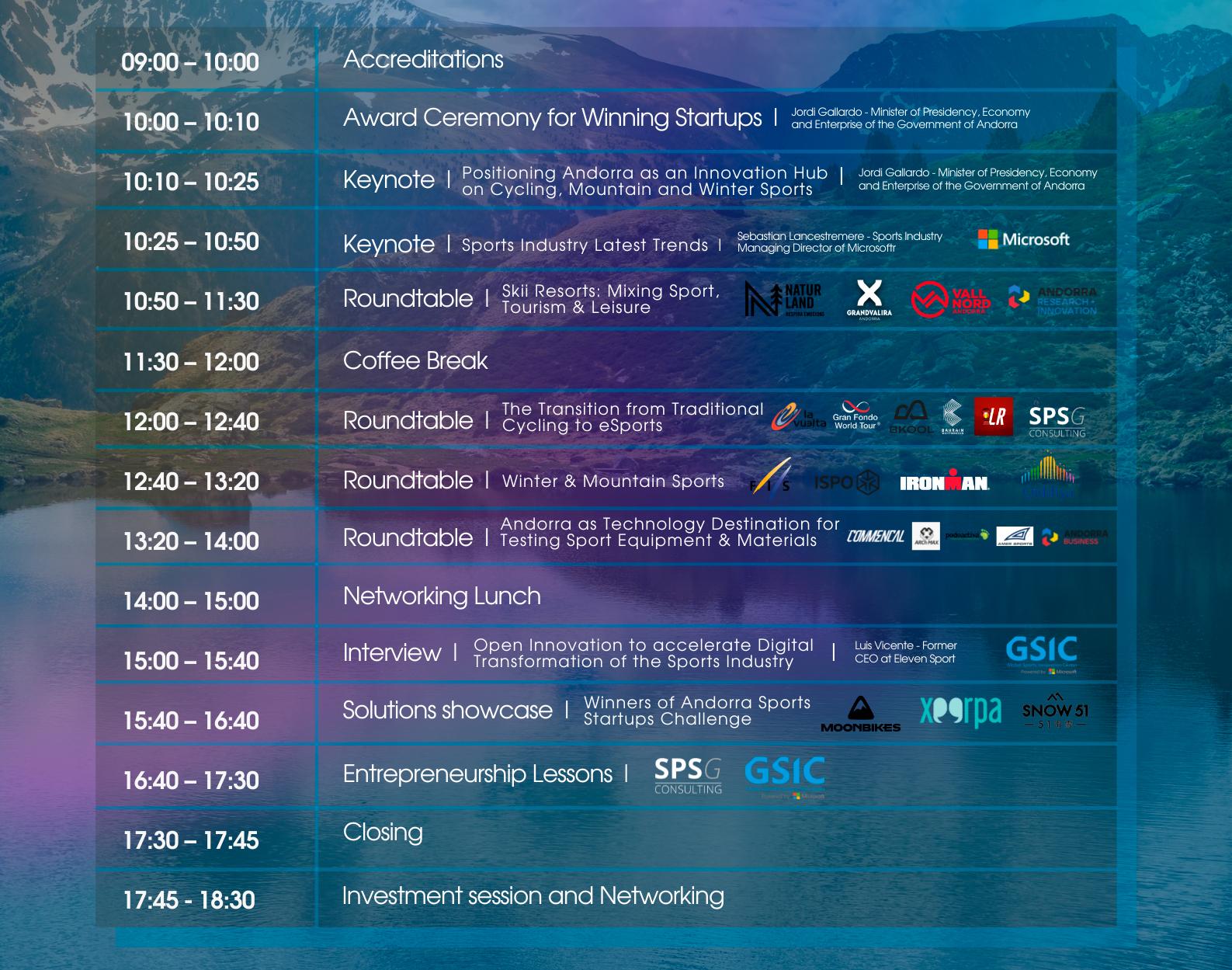 Andorra Sports Innovation Summit Program